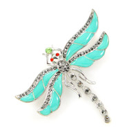 Teal Blue Dragonfly Brooch  Teal Dragonfly Broach Pin  DIY D...
