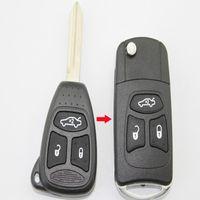 3 버튼 플립 접이식 원격 키 셸 크라이슬러 300C 태평양 표준시 크루즈 수정 된 교체 자동차 키 케이스