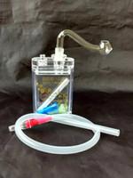 Zigaretten-Art-Acrylhuka + vollständiger Satz Zusätze, neue einzigartige Ölbrenner-Glasrohr-Wasserrohr-Glasrohr-Ölplattformen, die mit Tropfen rauchen