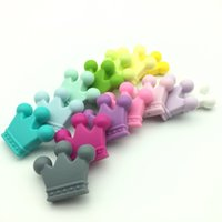 2017 new lot of 50pcs BPA Free Silicone Crown Teether Beads ...