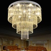 K9 lampadari di cristallo LED moderno lampadario luci apparecchio multi circoli casa illuminazione interna hotel hall Lobby Parlor goccia di cristallo