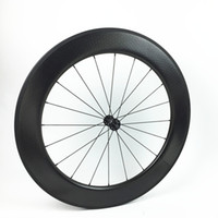 bicycle wheelset 700c carbon dimple surface wheels 80mm clin...