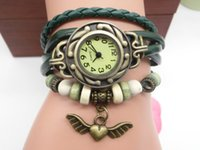 wholesa 100pcs lot Mix 7Colors Cow Leather women Watches Lea...