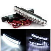 Spedizione gratuita! Universale 2 * 8 LED Auto LED Daytime Running Light Car LED Signal Light Drop Shipping