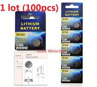 100 stücke 1 los CR1220 3 V lithium li ion knopfzelle CR 1220 3 Volt li-ion münze batterien Kostenloser Versand