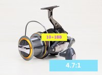 AFL8000- 12000 10+ 1BB Large long shot pesca fishing wheel bea...