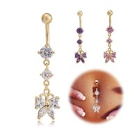 Yellow Gold Plated Cubic Zirconia CZ Butterfly Long Charms P...