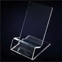 Acrylique téléphone portable téléphone mobile présentoirs stand support pour 6inch iphone samsung HTC xiaomi huawei vente chaude