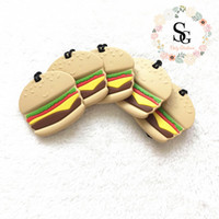 2017 new Lot of 10 pcs - Mixed two designs silicone hamburge...