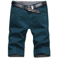 Wholesale-2016 Summer Men's Shorts Men Casual Cotton Knee Length Shorts Men Short Pants Beach 39zm