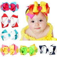 Newest Baby Headbands Big Bows Double Layers Baby Kids 5&quo...