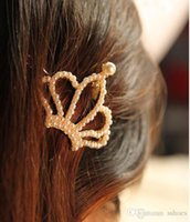 Pearl Crown Barrettes Sposa Wedding Gioielli per capelli Perla Bow Star Love Heart Forcine per capelli Clip per capelli Accessori per capelli da sposa