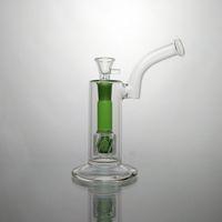 Pipes bong de cristal Bongs de agua de colores con agua interno verde de ducha pelele de 8,6 pulgadas pantalla de vidrio de 18 mm