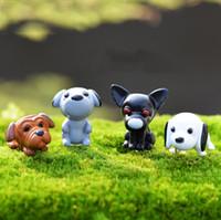 8pcs cartoon cani cucciolo fairy garden miniature giardino gnomes moss terrari figurine artigianali per la decorazione del giardino