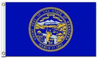 Drapeau de la ville d'impression numérique du drapeau américain Nebraska Drapeau 3x5ft 100D Polyester avec deux œillets métalliques