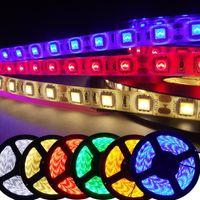 5M 5050 3528 5630 LEDストリップライト暖かい白赤緑青RGBの柔軟な5Mロール300 LEDS 12V屋外リボン防水照明