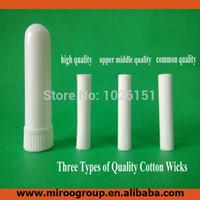 Производитель 50 комплектов пустой носовой ингалятор палочки, ароматерапия носовые ингаляторы для эфирного масла (высокое качество хлопка фитили 51 мм)