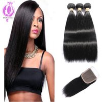 Factory Products Peruvian Hair with Closure 3 Bundles Peruvi...