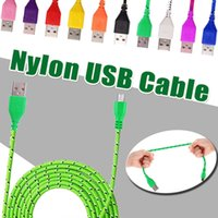 Nylon V8 Micro USB Cable 1M 2M 3M High Speed Sync Fabric Bra...