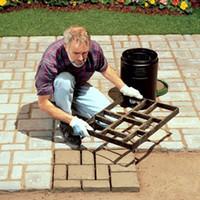 1pcs DIY 플라스틱 경로 제작자 금형 수동 포장 / 시멘트 벽돌 금형 정원 장식을위한 돌로드 보조 도구
