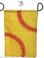 30pcs Baseball and Softball Sports Garden Flags Wholsale Bla...
