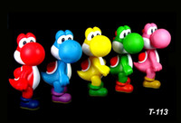 5 set di colori per bambini Cartoon anime Super Mario bros brothers yoshi Action Figures PVC figure Model dolls Toy Gift for children 12cm