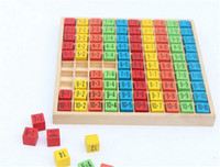 New Wooden Baby Toys 10x10 Multiplication table wooden child...