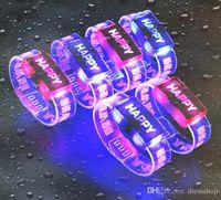 излучающие светящиеся часы светодиодные запястье ремешок счастливый излучающих браслет Браслет стойло питания