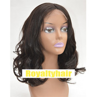Short Wavy Lace Front Human Hair Wigs 130% Density Side Part...