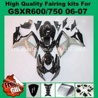 9Gift carenatura per 06 07 SUZUKI GSXR600 GSXR750 2006 2007 K6 K7 GSX-R600 GSX-R750 2006 2007 GSXR600 750 06 07 Carenature carenatura nera