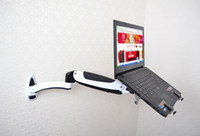 Montagem na parede Titular Laptop Gás Primavera Braço de Liga de Alumínio Full Motion 10-15 polegada Laptop Mount Stand Lapdesk