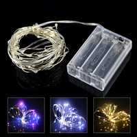 Copper Silver Wire LED String lights 1M 2M 3M 5M 6M 10M Wate...
