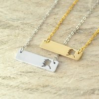 Alaska Bar Necklace Cut Out Map Necklace Alloy State Necklac...