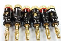 50 stks / partij Nakamichi 4mm Banana PCA Plug Spiraal Type 24K Goud Schroef Stereo Luidspreker Audio Copper Terminal Adapter Elektronische Connector