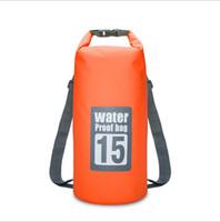 15 L Su Geçirmez sırt çantası sürüklenen çanta Açık seyahat Su Geçirmez Kuru Çanta sırt çantası PVC Tente sualtı sırt çantası
