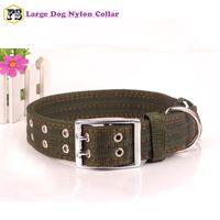 Nouvel arrivage colliers pour chiens fournitures pour animaux de nylon à double boucle gros chiens collier 2 couleurs 2 tailles en gros Livraison gratuite