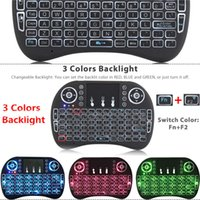 Rii Fly Air Mouse 2.4G Mini i8 Teclado inalámbrico con retroiluminación Rojo verde azul Controles remotos para S905X S912 Android TV Box