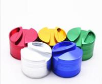 YENİ yaratıcı Herb Öğütücüler 75mm Alüminyum Alaşım Öğütücüler 4 adet tütün Metal Taşlama sigara filtresi değirmeni 5 renk