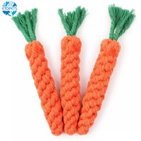 Durable Carrot Shaped Rope Dog Cotton Chew Toy Ball Play Cle...