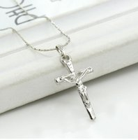 Silver plated Cross Necklace Alloy women Pendant Nacklace 2017 New Popular Statement Choker Long Chain Necklaces Jewelry