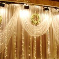 Edison2011 Hot 300 LED Tenda Luci Per Matrimonio Ghiacciolo LED String Fata Luce Festa Di Natale Decorazione Della Casa 3 mx 3 m 220 V 110 V