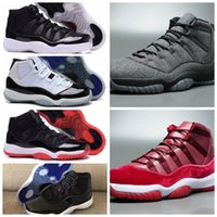 Mens 11 Wool Basketball Shoes brand XI Velvet Heiress Bred 7...