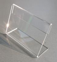 Çeşitli Küçük Boyutu T2mm Şeffaf Akrilik Plastik Burcu Ekran Kağıt Etiket Kart Fiyat Etiketi Tutucu L Şekilli Standı Yatay On Tablo 10 adet