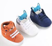 Nova Moda Bebê Recém-nascido Crianças Dos Miúdos Sapatos Prewalker Raposa Infantil Criança Berço de Fundo Macio Anti-slip Tênis sapatos infantil G293