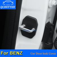 4 шт. / Лот ABS автомобильный дверной замок защитные чехлы для Mercedes Benz C180 C200 C260 GLC-класс ML E200 GLK-класс GLA-CLACK CLACK CLAS