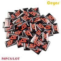 Pegatinas de coches ST Racing Insignia Plástico Drop Sticker para Seat vw honda fiat nissan saab mazda Calcomanías de Coches Epoxy Logo Sticker 50 UNIDS / LOTE
