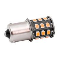 4 pezzi di piccola dimensione ad alta potenza giallo ambra 33 LED 2835 SMD BAU15S 7507 PY21W 1156PY LED lampadine per luci di direzione anteriori luci 12V