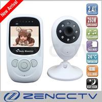 Moniteur de bébé sans fil vidéo couleur 2,4 pouces Nanny Baba Moniteur de température portable caméra de vision nocturne 5M IR LED