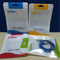 Zipper Plastic Retail bag Foro per appendere Poly packaging per busta in poliuretano con cavo USB