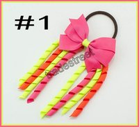 Envío gratis 30 unids 3.5 '' X6 '' funky Korker Hair Bows Colorido Korkers molinete Korker Rainbow Bows